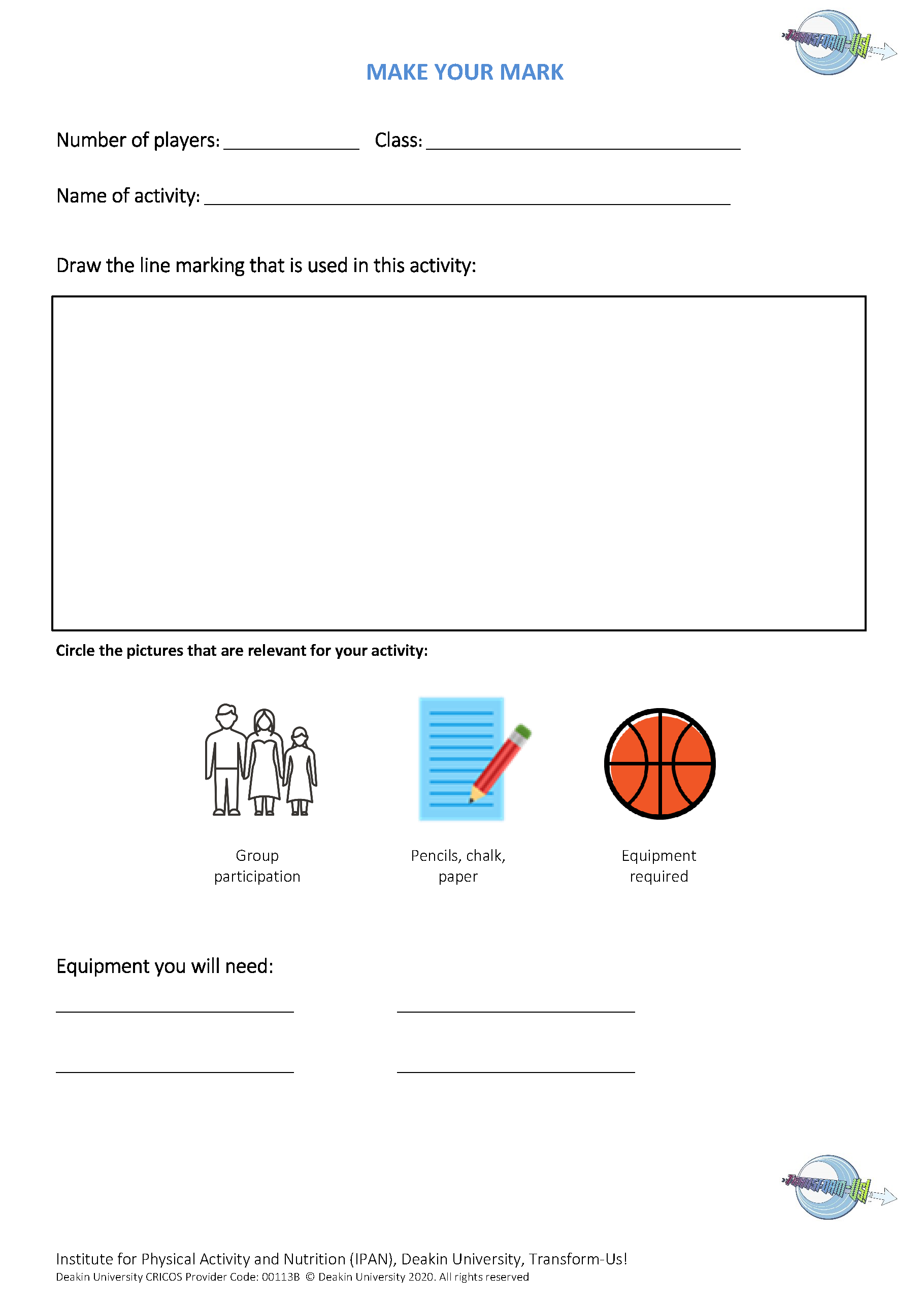 Topic 4 Make your mark worksheet_CR