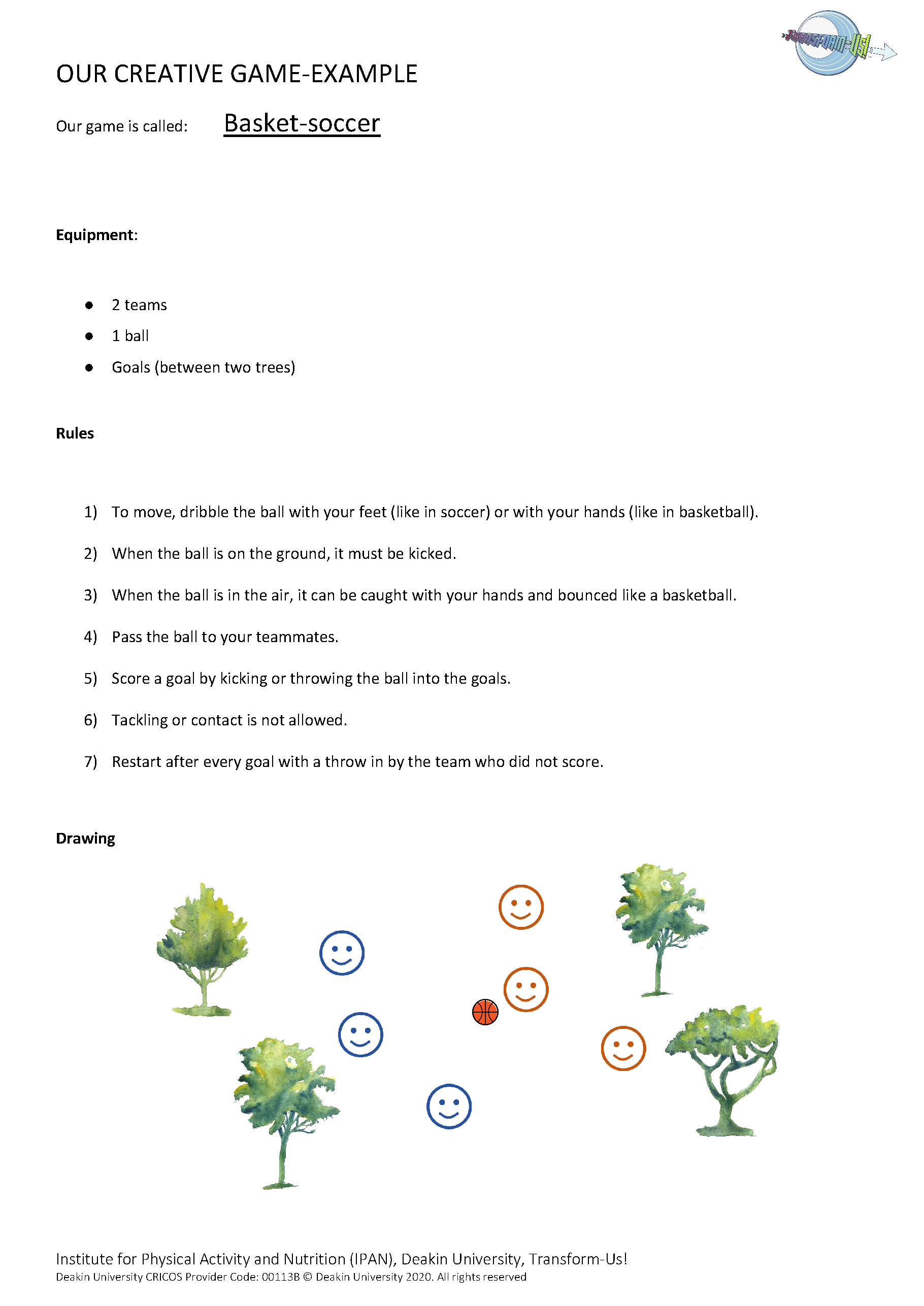 Topic 4 Our creative game worksheet_CR
